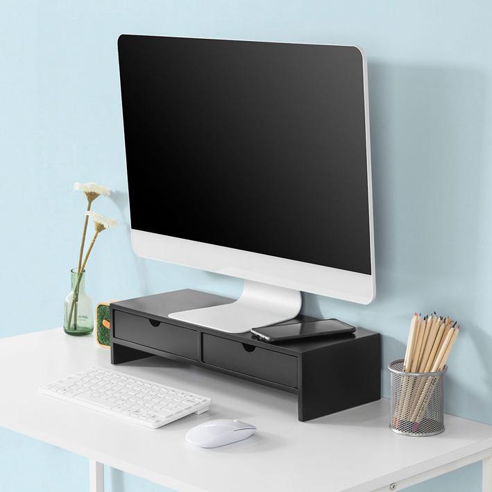 SoBuy Supporto Monitor pc da scrivania Organizer scrivania ...