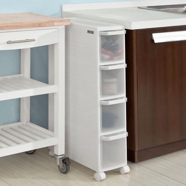 sobuy carrellino salvaspazio carrellino per il bagno bianco frg41 w it ebay. Black Bedroom Furniture Sets. Home Design Ideas