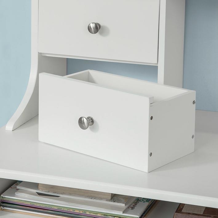 Sobuy Wandtisch Wandschrank Schreibtisch Computertisch Mit Lagerung Weißfwt49 W