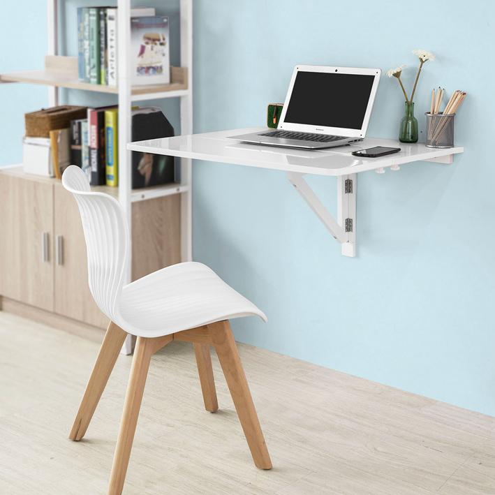 Sobuy tavolo da muro pieghevole 80 60cm 2x pieghevole bianco fwt02 w it ebay - Tavolo da muro pieghevole ...