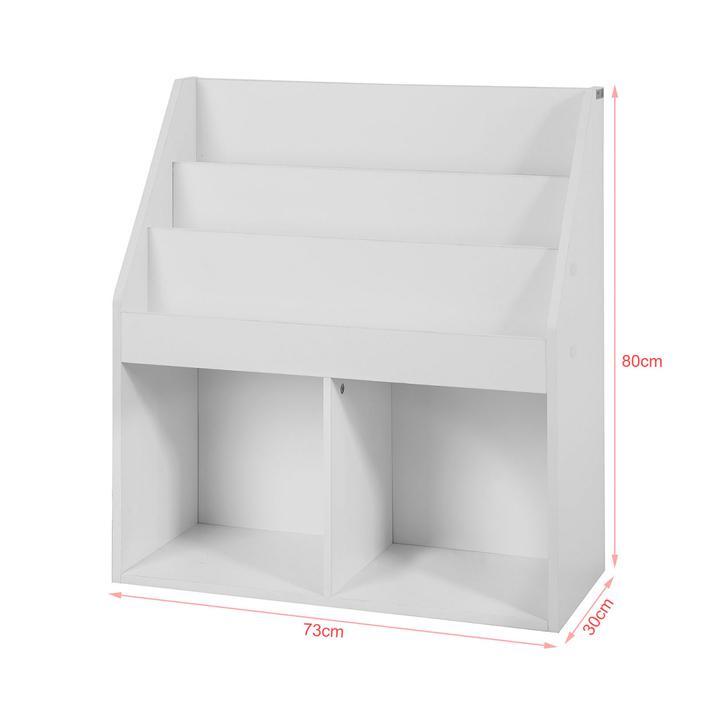 sobuy b cherregal f r kinder zeitungsst nder aufbewahrungsregal wei kmb01 w sobuy shop. Black Bedroom Furniture Sets. Home Design Ideas