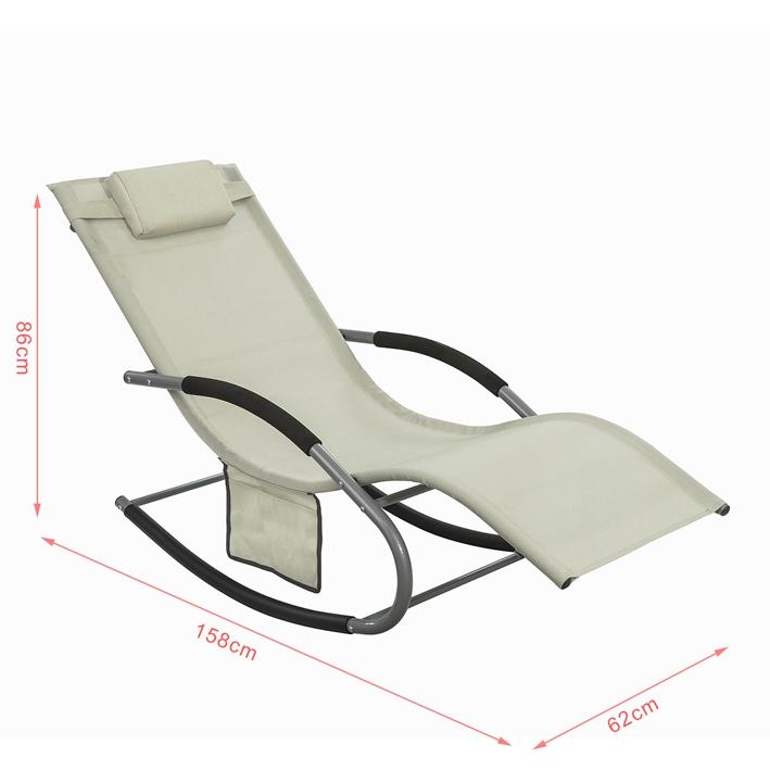 Sobuy swingliege schaukelliege sonnenliege liegestuhl - Gartenliege ergonomisch ...