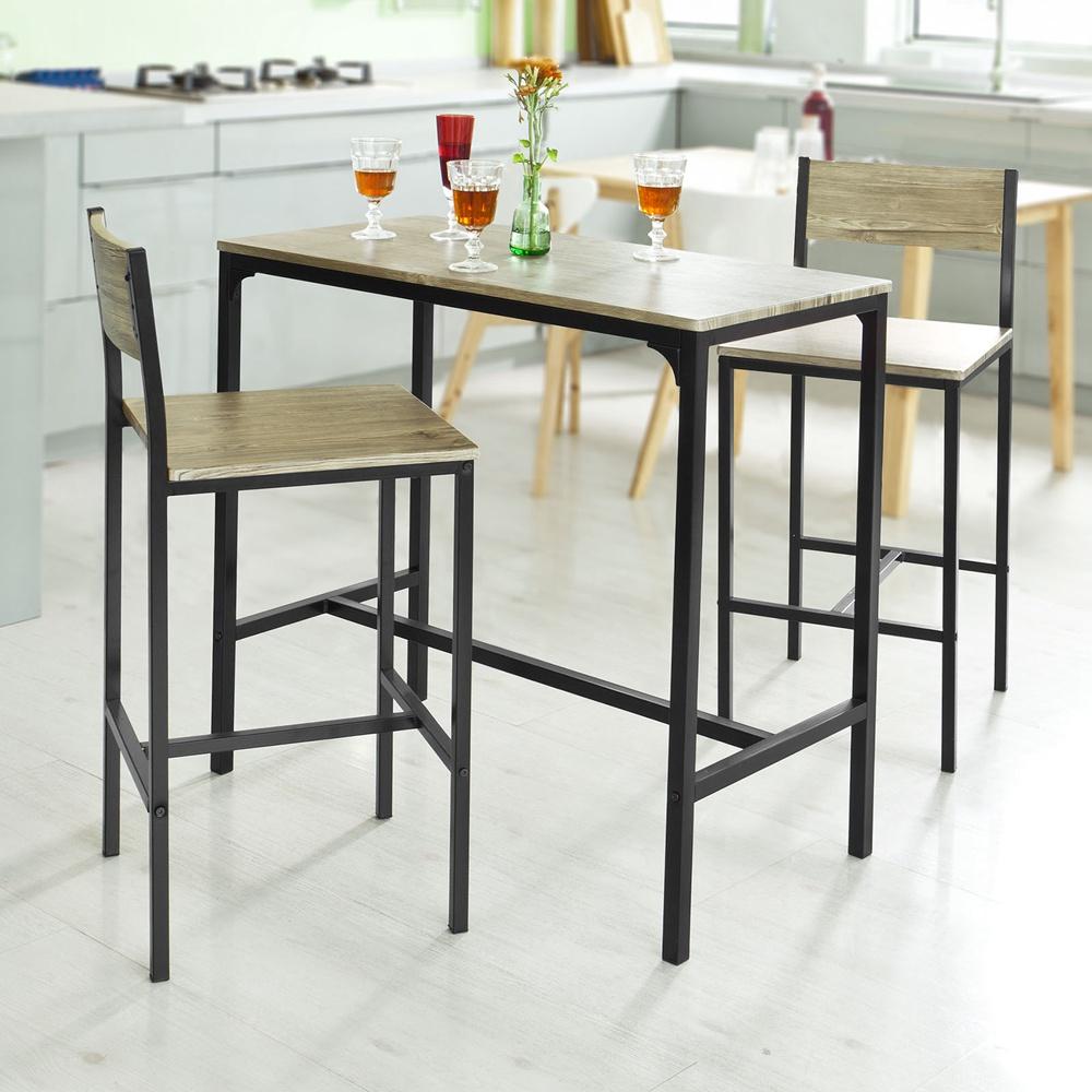 sobuy bartisch set stehtisch gartenm bel set. Black Bedroom Furniture Sets. Home Design Ideas