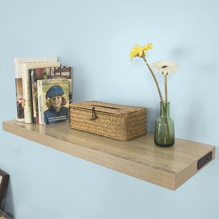 b waren lichtboard wandboard mit led beleuchtung schweberegal wdr01 n bwaren ebay. Black Bedroom Furniture Sets. Home Design Ideas