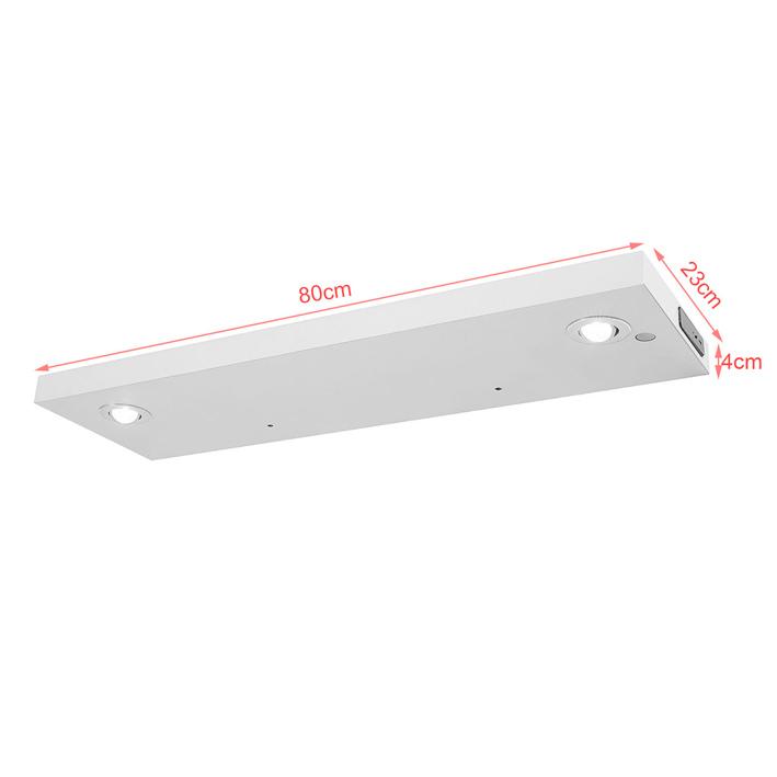 Sobuy wdr01 w lichtboard wandboard mit led beleuchtung wandpaneel mit 2 leds wandregal - Led wandpaneel ...